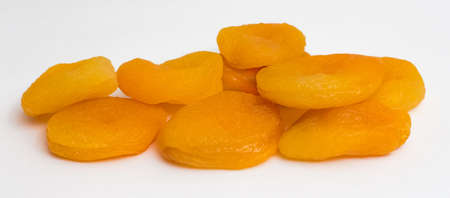 Dried apricots on a white background. Dry apricot fruit