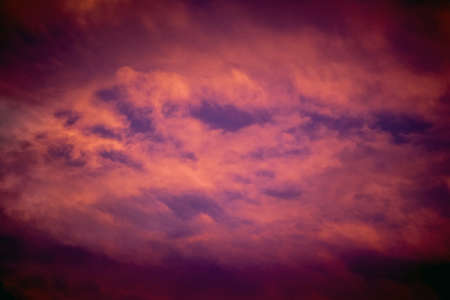 Dark dramatic cloudy sky during the sunset Foto de archivo