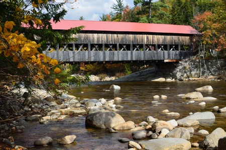 covered bridge: White Mountain National Forest Covered Bridge