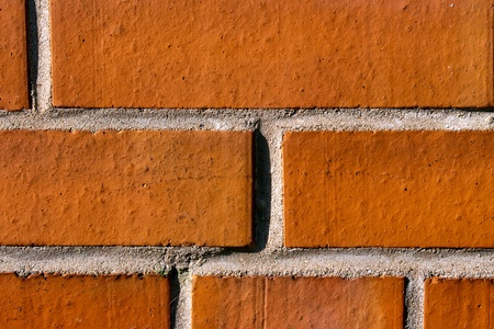 Wall of red bricks