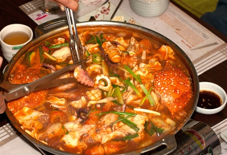 gung: Korean seafood mix