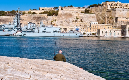 Fisherman, Malta Stock Photo
