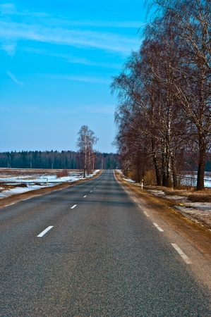 Country highway in Lithuania Stock Photo - 11762595