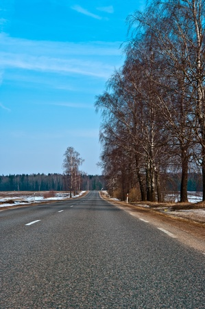 Country highway in Lithuania photo