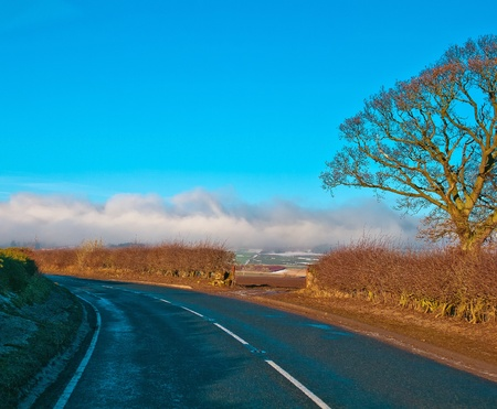 Country highway in Scotland
