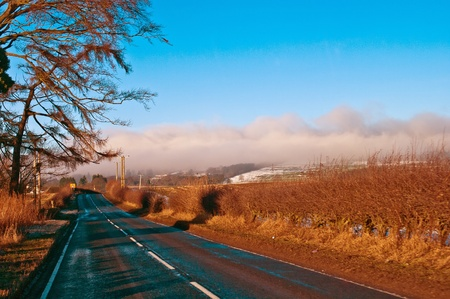 country highway: Country highway in Scotland