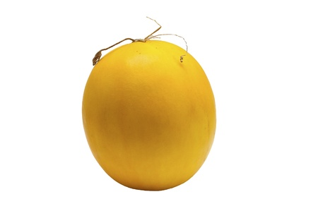 Yellow melon on white background Stock Photo