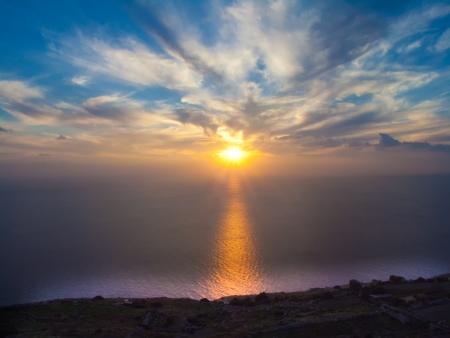 nightfall: Sunset at Sea