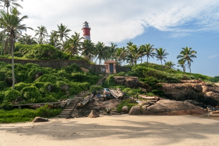 Lighthouse on Kovalam Beach photo