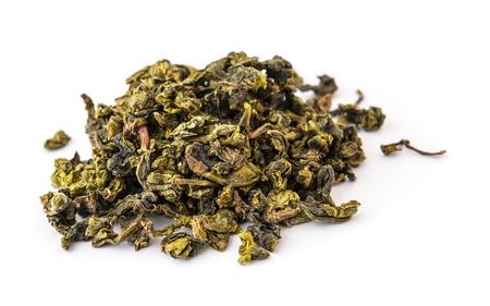 Dry oolong tea leaves photo