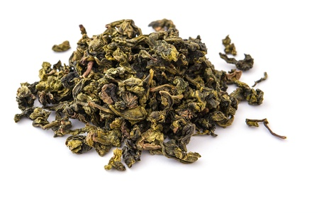 Dry oolong tea leaves photo