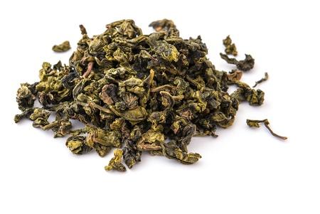 Dry oolong tea leaves Stock Photo