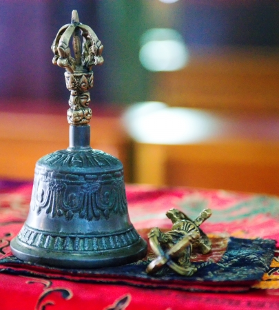 Tibetan religious bell in monastery Stock Photo - 22857770