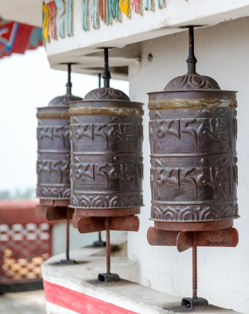 Buddhist prayer wheels Stock Photo - 22857776