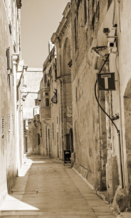 Street of Mdina - silent city of Malta