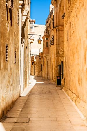 Street of Mdina - silent city of Malta photo