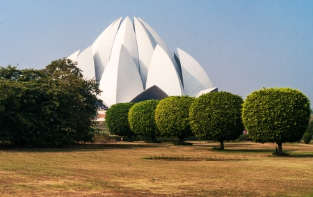 Lotus Temple in  Delhi. India Stock Photo - 23075536