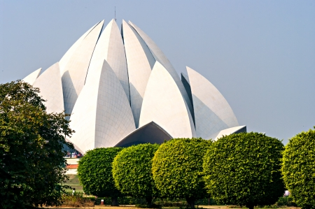 Lotus Temple in  Delhi. India