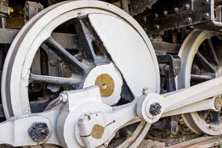 Old steam locomotive photo