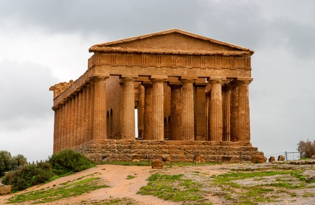 concordia: The ruins of Temple of Concordia, Valey of temples, Agrigento, Sicily, Italy