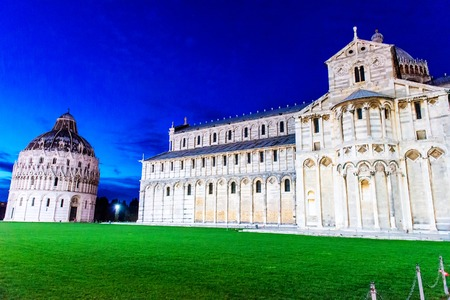 Pisa - Baptistry, Cathedral, Leaning Tower, Italy,  photo