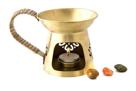 sard: Aromatherapy burner isolated on white background