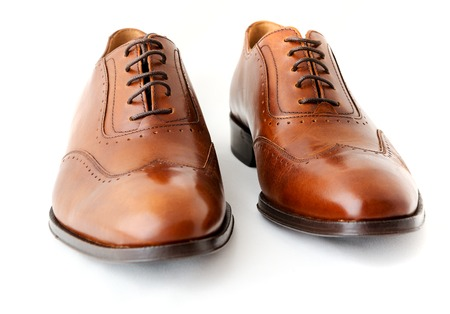men's: Male fashion shoes on white Stock Photo