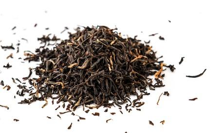 assam tea: Indian ASSAM golden tips tea isolated