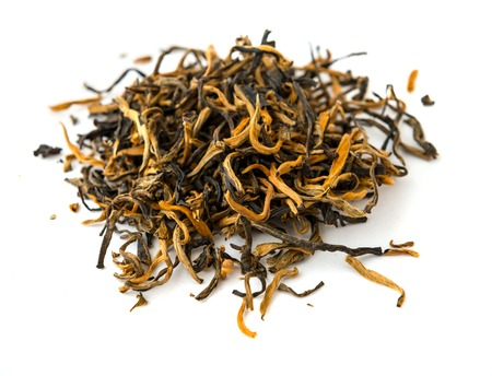 assam: Indian black ASSAM gold tea isolated   on a white  Stock Photo