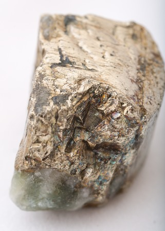 pyrite: macro shot of pyrite mineral isolated Stock Photo
