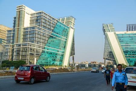 gurgaon: Gurgaon, India- 19 October, 20l4: Modern buildings in Gurgaon cybercity near Delhi, India