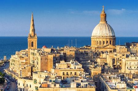 Valletta Skyline, Malta Reklamní fotografie