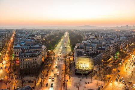 champs elysees quarter: Paris view from Triumphal Arch