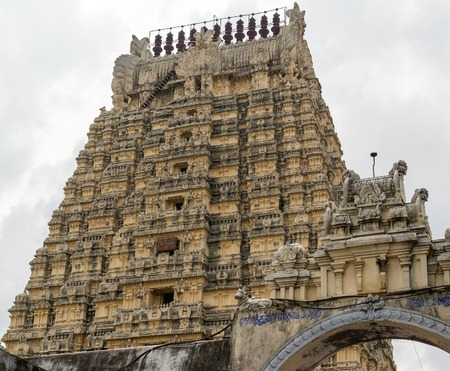Ekambareswarar  shiva temple, india, kanchipuram Stock Photo