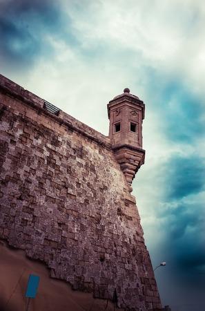 malta cities: Watchtower Malta toned image