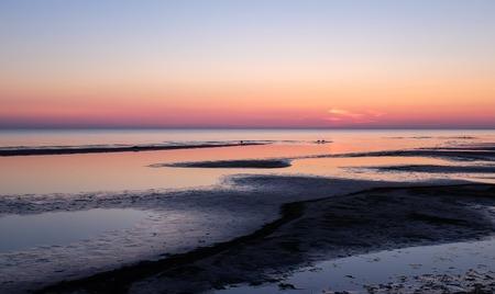 jurmala: Sunset on the beach, Jurmala, Latvia, Baltic sea