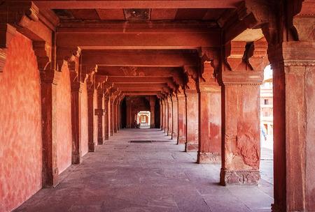 fatehpur: Ancient ruins of palace. Fatehpur Sikri, India Editorial