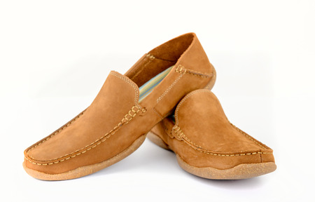 footgear: Male fashion shoes isolated Stock Photo