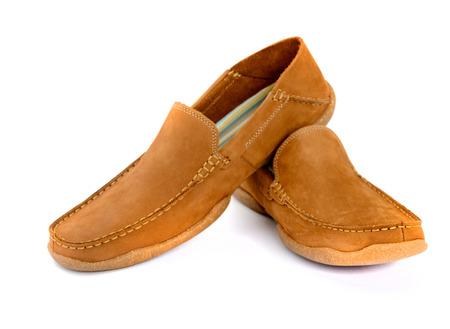 footgear: Male fashion shoes isolated Stock Photo