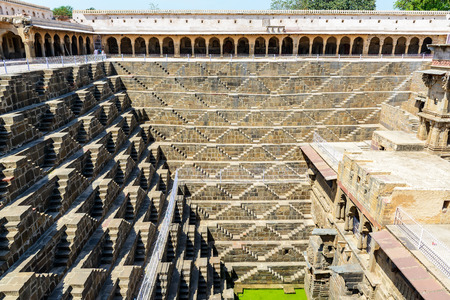 dausa: Giant stepwell of abhaneri in rajasthan, india