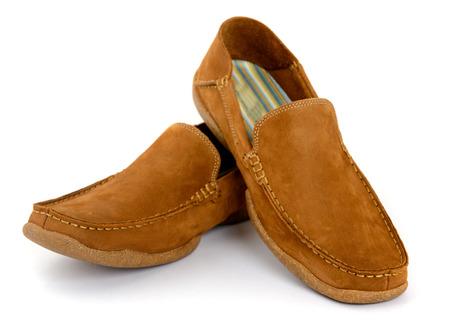 male fashion: Male fashion shoes isolated Stock Photo