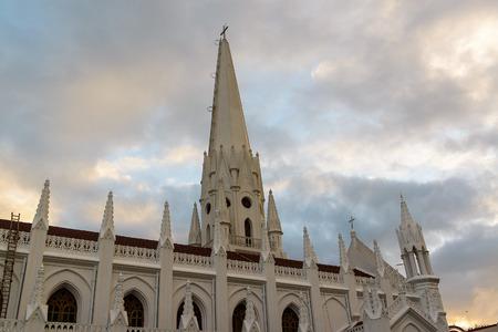 thomas stone: San Thome Basilica Cathedral in Chennai, Southern India