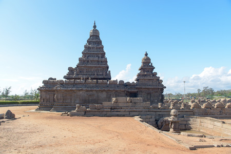 tamil nadu: Shore temple in Mamallapuram, Tamil Nadu, India