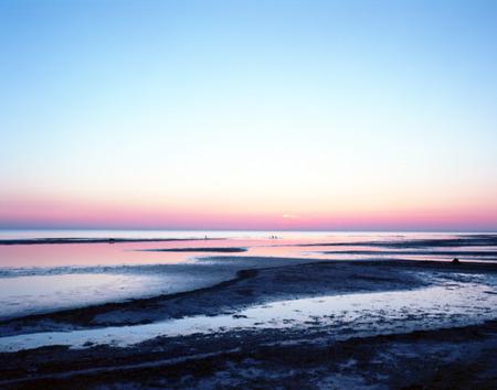 jurmala: Mamiya 7 film shot of Sunset on the sea, Jurmala,  Baltic sea