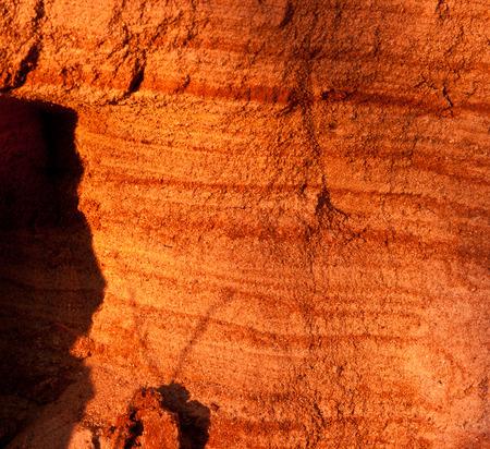 sand pit: Sand pit tetured cut under sunset light