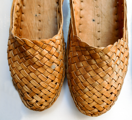 Pair of Traditional Braided sandals, Rajasthan, India