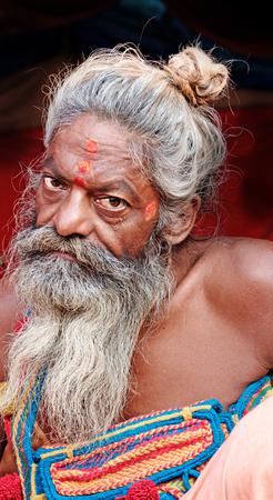 sadhu: Allahabad, India- 25 January 2013: A Hindu sadhu  during Kumbha Mela festival