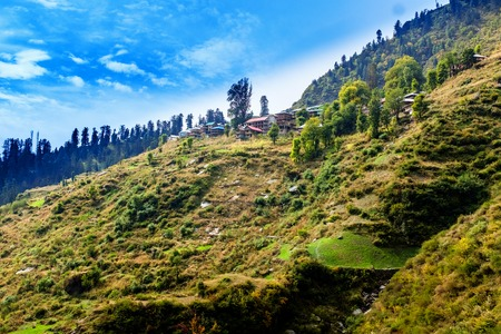 indian village: Malana - ancient Indian village in Himachal, India.