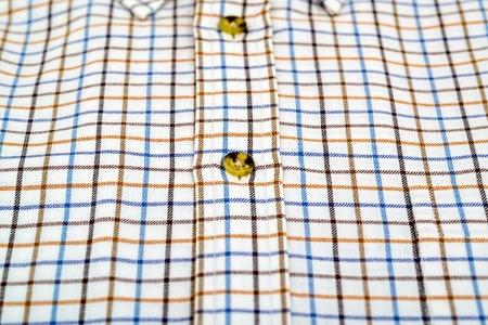 tattersall shirt isolated on white