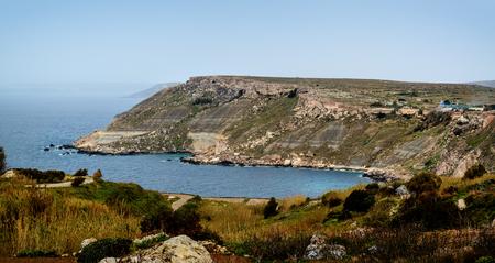 Fomm ir-Rih coast and bay in North of Malta